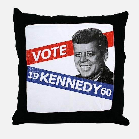 Retro Kennedy 1960 Throw Pillow