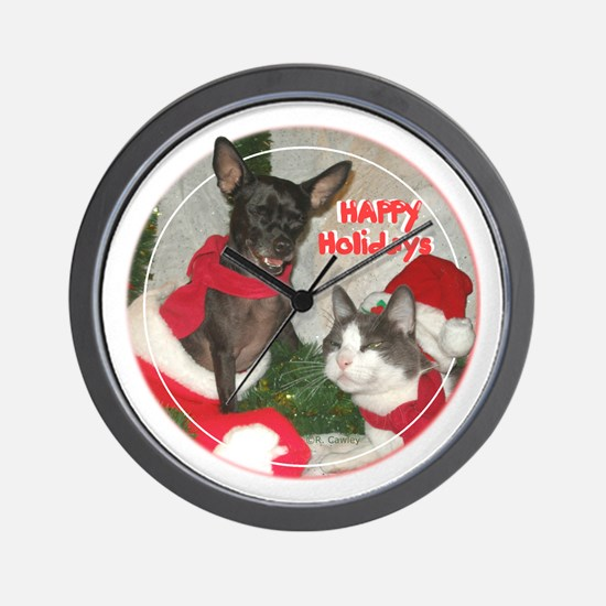 Mewy Pupmas Wall Clock