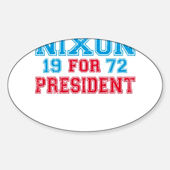Retro Nixon 1972 Oval Decal