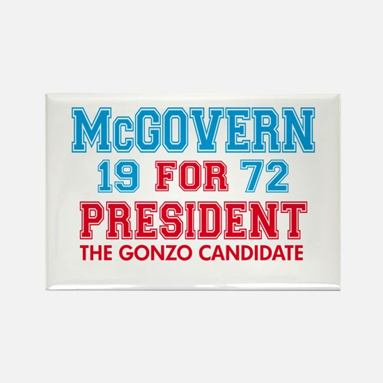 McGovern 1972 Gonzo Rectangle Magnet