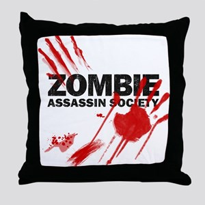 Resident Zombie Assassin Throw Pillow