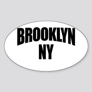 Brooklyn NY NYC Oval Sticker
