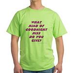 Goodnight Kiss - purple Green T-Shirt