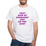 Goodnight Kiss - purple White T-Shirt
