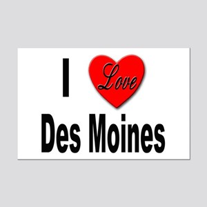 I Love Des Moines Iowa Mini Poster Print