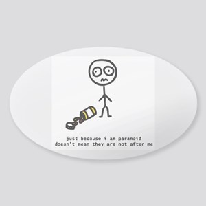 """Paranoia"" Oval Sticker"