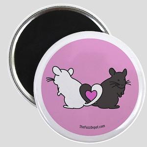 Chinchilla Hearts Magnet