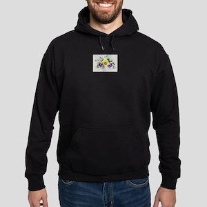 Pansies Hoodie (dark)