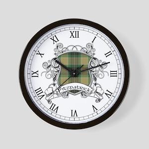 Fitzpatrick Tartan Shield Wall Clock