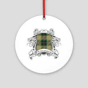 Fitzpatrick Tartan Shield Ornament (Round)