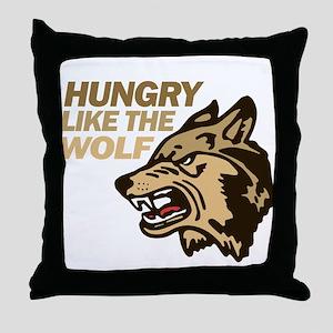 Hungry Like Wolf Duran Rio Throw Pillow