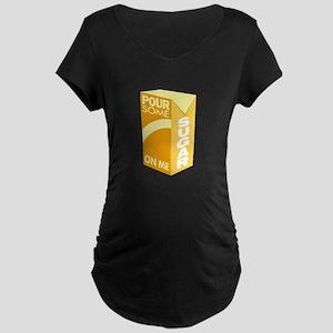 Pour Sugar Def Leppard Maternity Dark T-Shirt