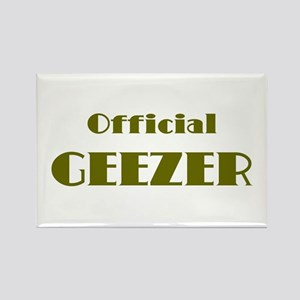 Official Geezer Rectangle Magnet