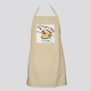 Art is not a thing BBQ Apron