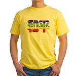 Chinese Rainbow Peace symbol Yellow T-Shirt