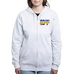 Chinese Rainbow Peace symbol Women's Zip Hoodie