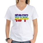 Chinese Rainbow Peace symbol Women's V-Neck T-Shir