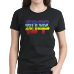 Chinese Rainbow Peace symbol Women's Dark T-Shirt