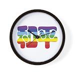 Chinese Rainbow Peace symbol Wall Clock