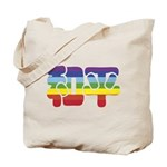 Chinese Rainbow Peace symbol Tote Bag