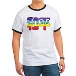Chinese Rainbow Peace symbol Ringer T