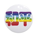 Chinese Rainbow Peace symbol Ornament (Round)