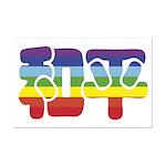 Chinese Rainbow Peace symbol Mini Poster Print