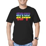 Chinese Rainbow Peace symbol Men's Fitted T-Shirt
