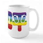 Chinese Rainbow Peace symbol Large Mug