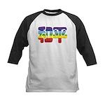 Chinese Rainbow Peace symbol Kids Baseball Jersey