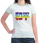 Chinese Rainbow Peace symbol Jr. Ringer T-Shirt
