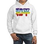 Chinese Rainbow Peace symbol Hooded Sweatshirt
