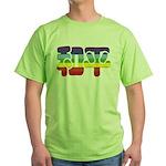 Chinese Rainbow Peace symbol Green T-Shirt