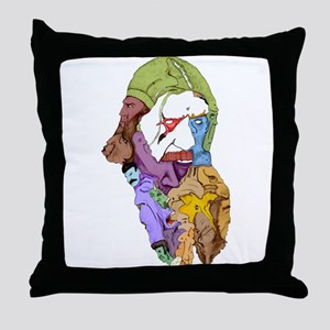 Raw Shock Rasputin Color Throw Pillow