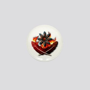 Native Red-Tailed Hawk Feathers Mini Button