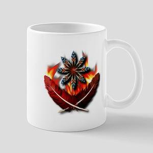 Native Red-Tailed Hawk Feathers Mug