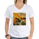 House and Ploughman Women's V-Neck T-Shirt
