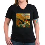 House and Ploughman Women's V-Neck Dark T-Shirt