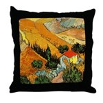 House and Ploughman Throw Pillow