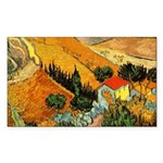 House and Ploughman Rectangle Sticker 10 pk)