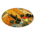 House and Ploughman Oval Sticker