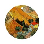 House and Ploughman Ornament (Round)