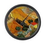 House and Ploughman Large Wall Clock