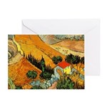 House and Ploughman Greeting Card