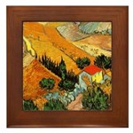 House and Ploughman Framed Tile
