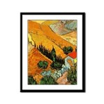 House and Ploughman Framed Panel Print