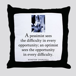 An optimist Throw Pillow