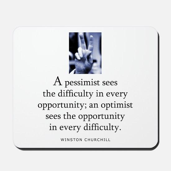 An optimist Mousepad