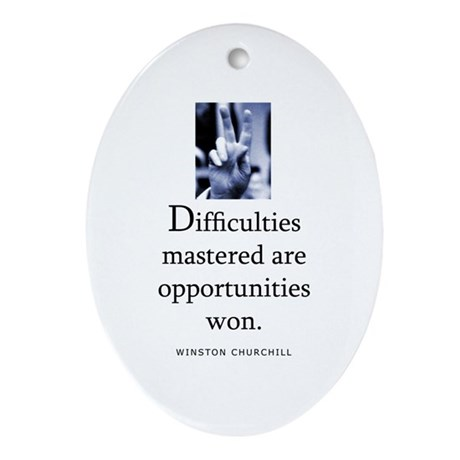 Difficulties Oval Ornament