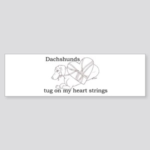 Dachshund Heart Strings Bumper Sticker
